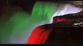 نمایی فوق العاده از سیستم جدید نورافشانی آبشار نیاگارا !