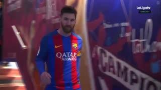 هایلایت حرکات لیونل مسی مقابل اسپورتینگ خیخون ( بازی خانگی )