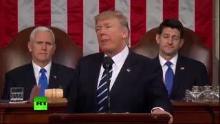 اولین سخنرانی دونالد ترامپ در کنگره آمریکا پخش کامل