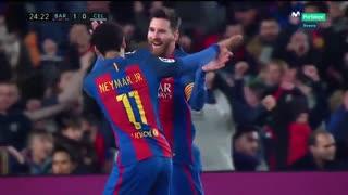 هایلایت حرکات لیونل مسی مقابل سلتاویگو ( بازی خانگی )
