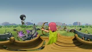 ویدیو 360 درجه : در محیط انیمیشن Clash of clans