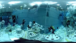 فیلم 360 درجه آموزش پیاده روی در فضا