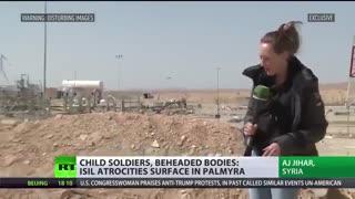 بمب گذاری تله،بدن سربریده متصل به تله انفجاری توسط داعش