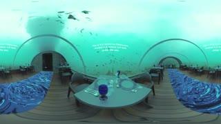 ویدیو 360 درجه : رستوران هیجان انگیز زیر آب در مالدیو