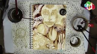 تایم لپس یک نقاشی هنرمندانه با قهوه !