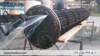 شستشوی مبدل حرارتی پالایشگاهی با واترجت
