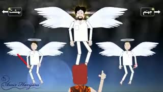 انیمیشن طنز: فرشته و چهارشنبه سوری