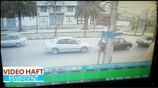 تصادف خنده دار در لاهیجان