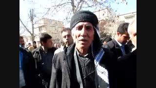 تجمع اعتراضی مردم روستاهای سرشیو به محل دفن زباله ها در جلوی شهرداری مریوان