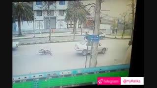 تصادف عجیب در لاهیجان