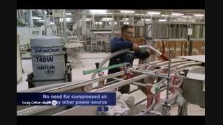 جاروبرقی صنعتی- جمع آوری موثر آلاینده ها از کارخانه ها