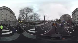 ویدیو 360 درجه : مقابل پارلمان انگلیس بعد از حادثه تروریستی