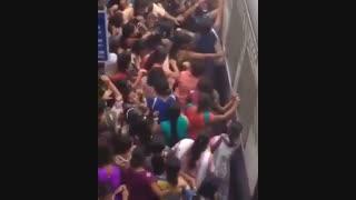 مترو شلوغ و ترسناک