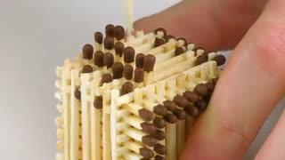 ساخت تانک با چوب کبریت بدون چسب!!!