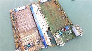 انتقال کشتی غرق شدۀ کرۀ جنوبی به سطح آب پس از 3 سال