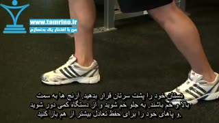 آموزش حرکت پشت بازو سیم کش از پشت با طناب Triceps Overhead Extension with Rope
