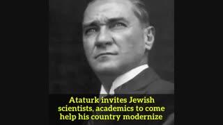 تورکیه و آتاتورک در مقام مدافعان یهود!