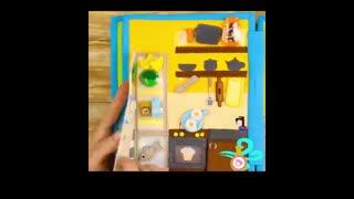 آموزش ساخت کتاب سه بعدی  پارچه ای