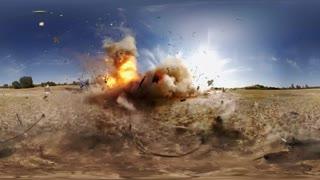 منفجر کردن یک ون با مواد منفجره را 360 ببینید