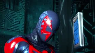 Batmanbeyond VS Spiderman2099-Super power beat down-720