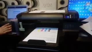 نصب مخزن روی پرینتر HP Officejet 8100