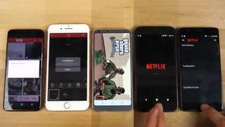 تست سرعت Galaxy S8 vs 7 Plus vs LG G6 vs Pixel vs 3T