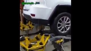 تبدیل خودرو به تانک برای عبور از برف