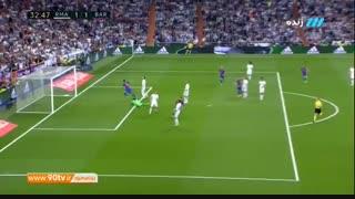 گل تساوی بارسلونا به رئال مادرید (مسی)
