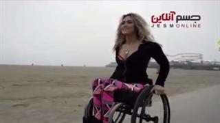 خانم معلول مربی با انگیزه فیتنس