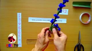 آموزش گل شاخه ای زیبا-www.gelaree.com