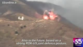 قسمتی از رزمایش نظامی مشترک کره جنوبی و آمریکا