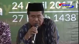درگذشت قاری معروف اندونزی هنگام تلاوت زنده قرآن کریم