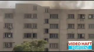 آتش سوزی گسترده در پاساژ مهستان انقلاب