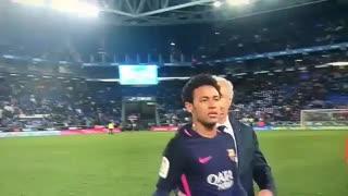 حرکت جالب نیمار و بابتیستائو در بازی بارسلونا و اسپانیول