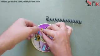 طریقه ساخت اسپیکر بوسیله یک عدد سی دی