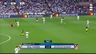 رئال 3 - اتلتیکو 0؛ با هت تریک رونالدو در یک قدمی فینال