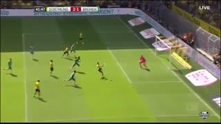 خلاصه  بازی : دورتموند   4  -  3   وردربرمن
