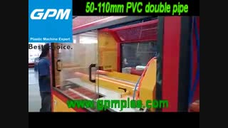 PVC pipe making machine 50-110mm double