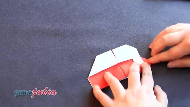 آموزش ساخت جعبه کادویی به شکل قلب