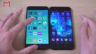 مقایسه سرعت دو گوشی Xiaomi mi 6 و Huawei P10 با زیرتویس فارسی اسمارت