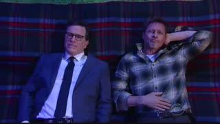 حضور Brad Pitt در برنامه The Late Show with Stephen Colbert