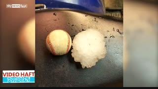 تگرگ اندازه توپ بیسبال