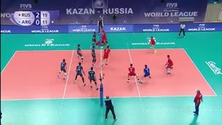 لیگ جهانی والیبال 2017 : خلاصه بازی : روسیه 3 - 0 آرژانتین