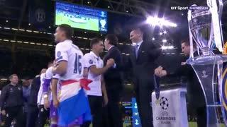 مراسم اهدای جام قهرمانی رئال مادرید در لیگ قهرمانان اروپا