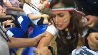 برخورد پلیس ایتالیا با تماشاگر ایرانی والیبال در ایتالیا