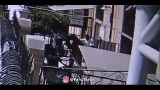 اولین فیلم منتشرشده از حضور تروریستهای داعش در بیرون از مجلس