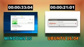 مقایسه سرعت اوبونتو 16 و ویندوز 10