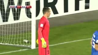 خلاصه بازی استونی 0-2 بلژیک