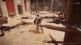 ویدیوی گیمپلی نبرد در بازی Assassin's Creed: Origins -زومجی
