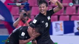 خلاصه بازی تایلند 1-1 امارات